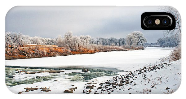 Winter Red River 2012 IPhone Case