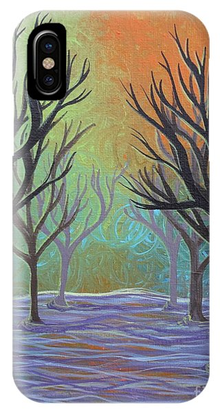 IPhone Case featuring the painting Winter Solitude 11 by Jacqueline Athmann