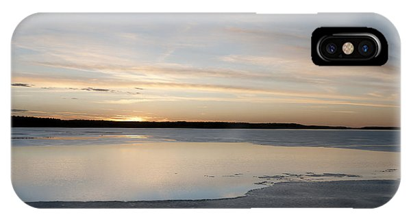 Winter Sunset Over Lake IPhone Case
