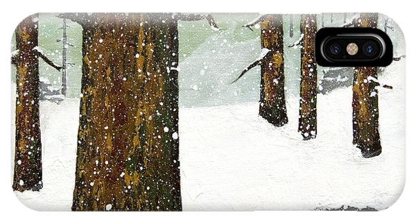 Wintering Pines IPhone Case