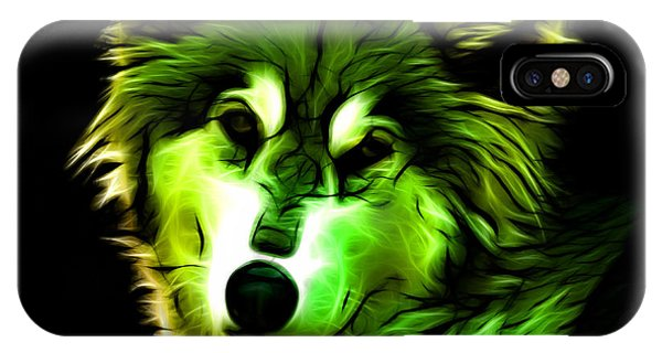 Wolf - Green IPhone Case