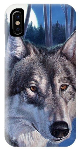 Wolf In Moonlight IPhone Case