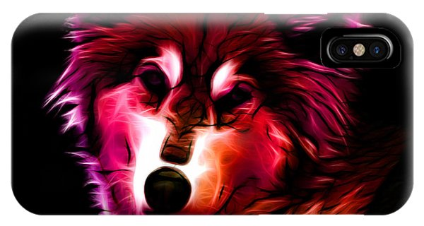 Wolf - Red IPhone Case