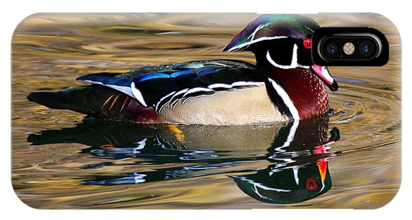Wood Duck On Golden Pond IPhone Case