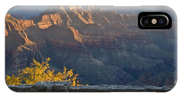 Wooden Bench At Canyon IPhone Case