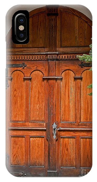 Wooden Double Doors Archway IPhone Case