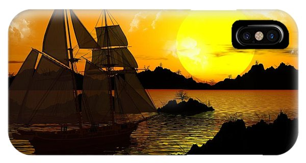 Wooden Ships IPhone Case