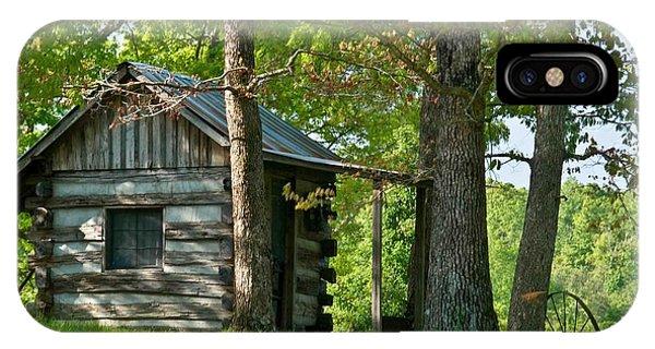 Crossville iPhone X Case - Woodland Cabin 1 by Douglas Barnett