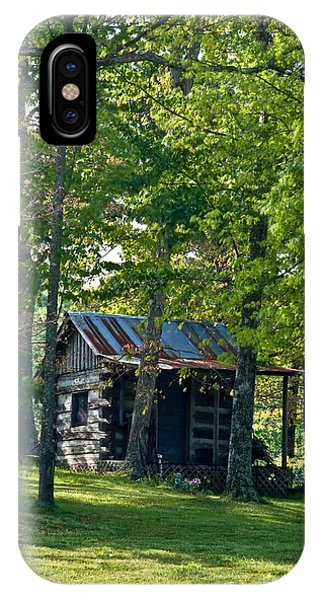 Crossville iPhone X Case - Woodland Cabin 3 by Douglas Barnett