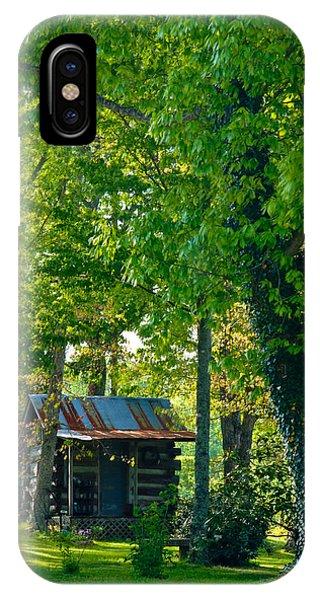 Crossville iPhone X Case - Woodland Cabin 4 by Douglas Barnett