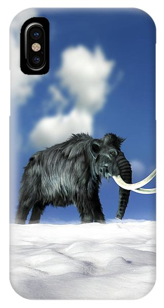 Woolly Mammoth, Artwork Phone Case by Victor Habbick Visions