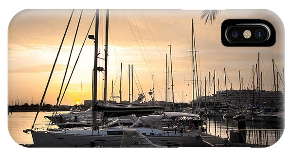 Navigation iPhone Case - Yachts At Sunset by Carlos Caetano