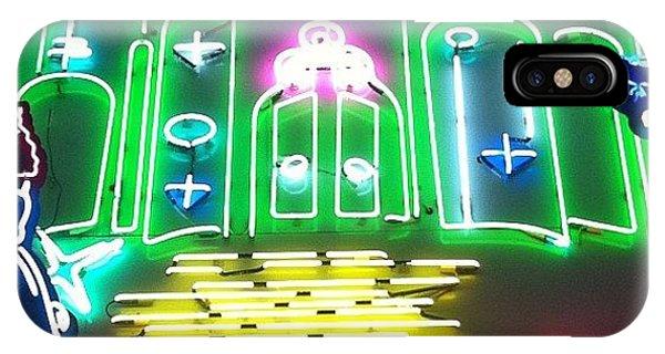 Movie iPhone Case - Yellow Brick Road. Neon Movie Art by Jim Spencer