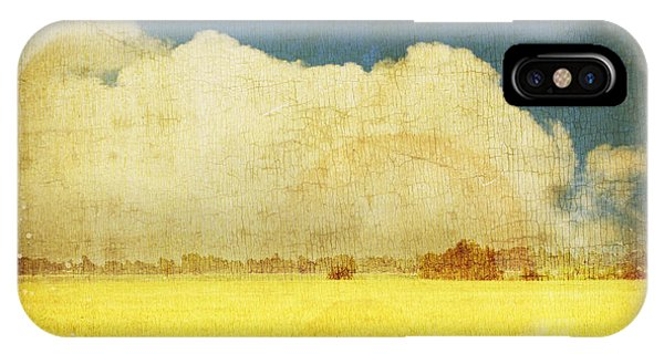 Cloud iPhone Case - Yellow Field by Setsiri Silapasuwanchai