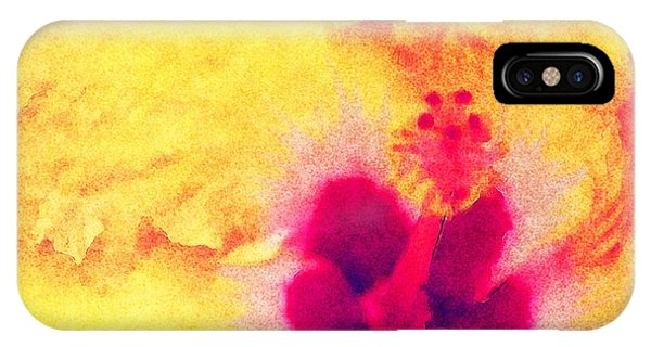 IPhone Case featuring the photograph Yellow Hibiscus Flower by Donna Bentley