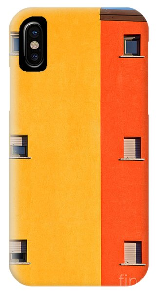 Colorful iPhone Case - Yellow Orange Blue With Windows by Silvia Ganora