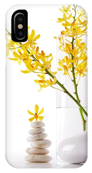 Yellow Orchid Bunchs IPhone Case