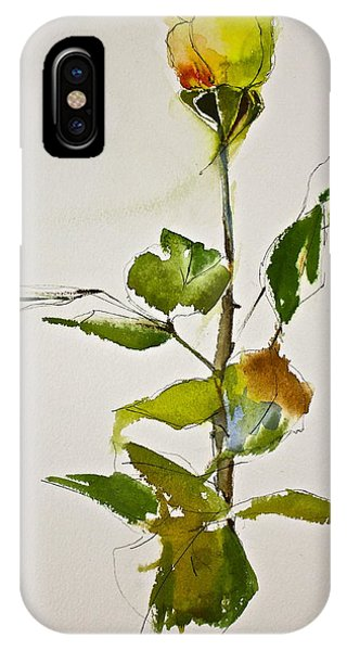 Yellow Rose-posthumously Presented Paintings Of Sachi Spohn  IPhone Case
