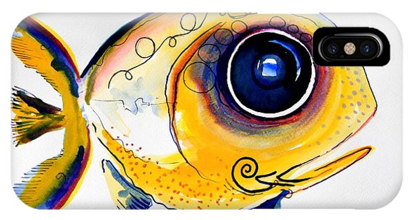 Yellow Study Fish IPhone Case