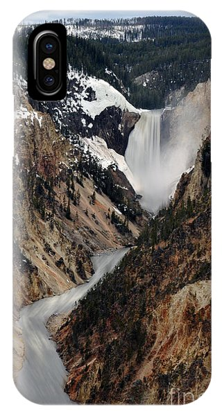 IPhone Case featuring the photograph Yellowstone Falls by Dan Friend