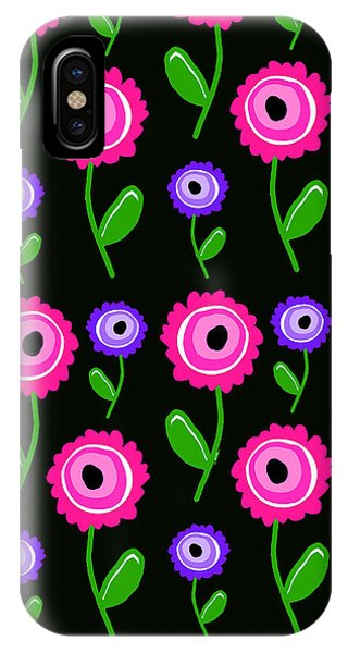 Contemporary Floral iPhone Case - Young Florals  by Louisa Knight