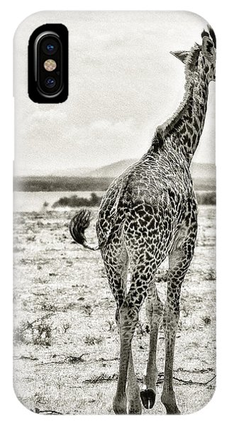 Young Giraffe Strolling Around IPhone Case