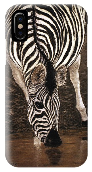 IPhone Case featuring the painting Zebra by Karen Zuk Rosenblatt