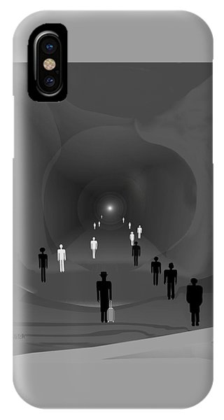 249 - The Light At The End Of The Tunnel   IPhone Case