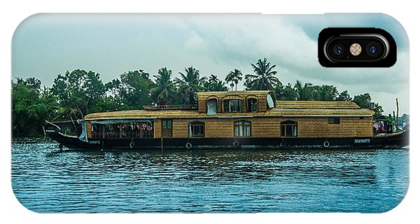Kerala iPhone Case -  A House Boat Around The Backwaters In Alleppey, Kerala, India by Art Spectrum
