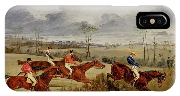 A Steeplechase - Near The Finish IPhone Case
