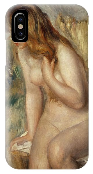 Bather Seated On A Rock IPhone Case