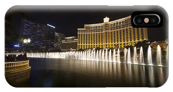 Bellagio Fountain In Las Vegas At Night IPhone Case