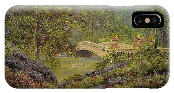 Bow Bridge Central Park IPhone Case