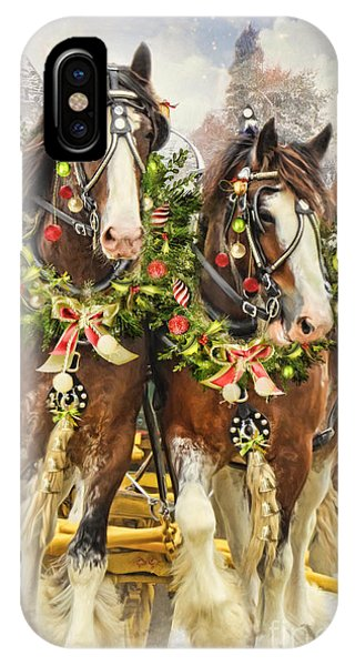 Christmas Clydesdales IPhone Case