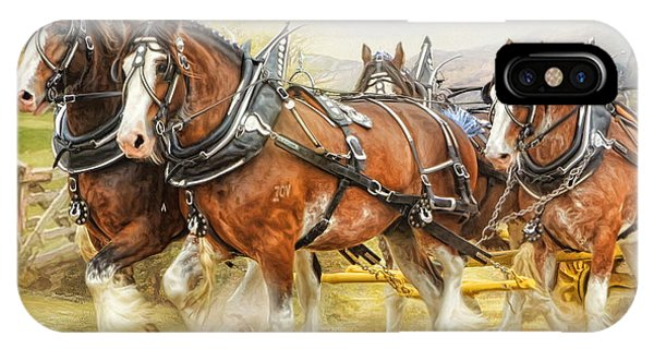 Clydesdales In Harness IPhone Case