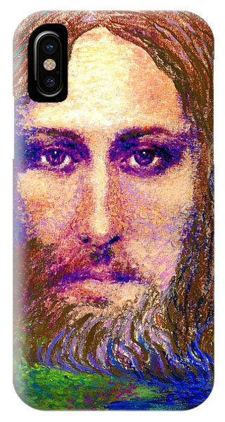 Shrouds iPhone Case -  Contemporary Jesus Painting, Chalice Of Life by Jane Small