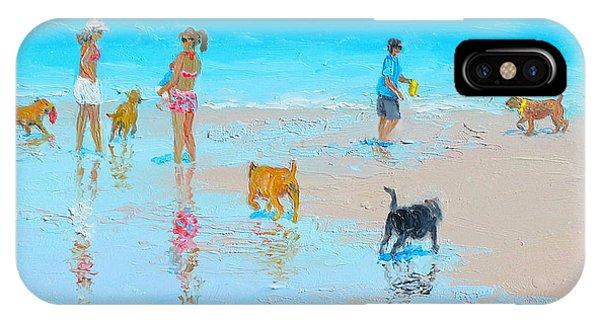 Dog Beach Day IPhone Case