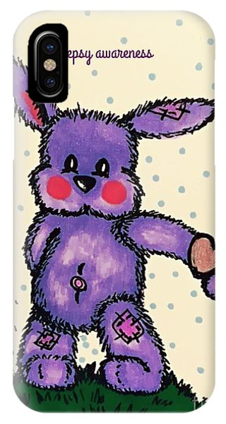 Epilepsy Awareness Bunny IPhone Case