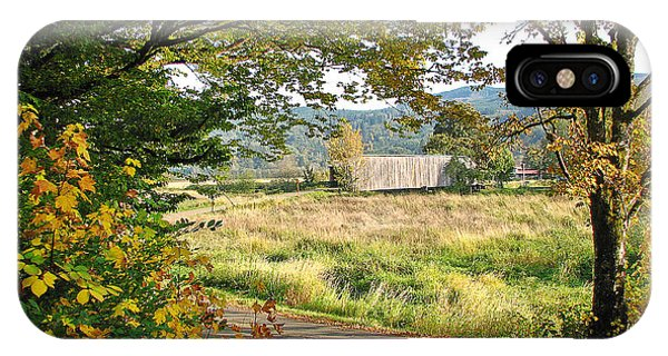 Fall At Grays River Covered Bridge IPhone Case