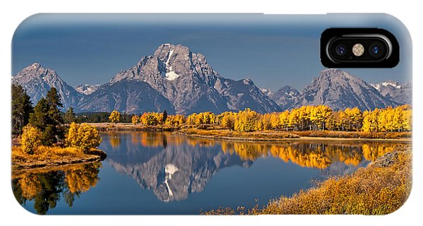 Fall Colors At Oxbow Bend In Grand Teton National Park IPhone Case