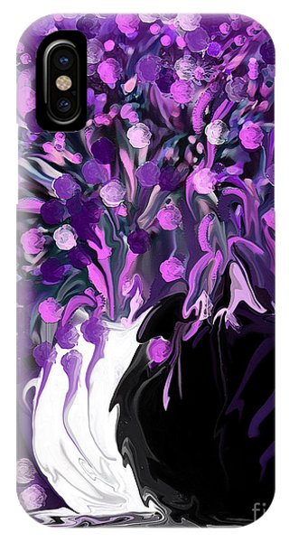 Flower Art Love Purple Flowers  Love Pink Flowers IPhone Case