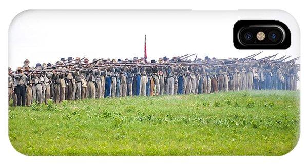 Gettysburg Confederate Infantry 0157c IPhone Case