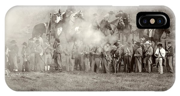 Gettysburg Confederate Infantry 7503s IPhone Case