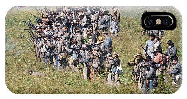Gettysburg Confederate Infantry 9015c IPhone Case