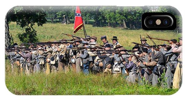 Gettysburg Confederate Infantry 9270c IPhone Case