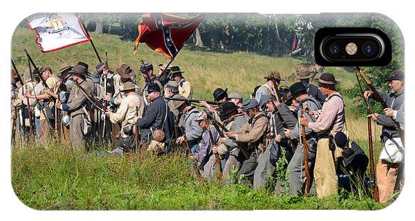 Gettysburg Confederate Infantry 9281c IPhone Case