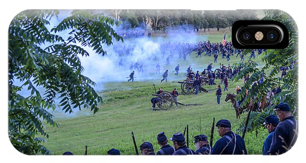 Gettysburg Union Artillery And Infantry 7465c IPhone Case