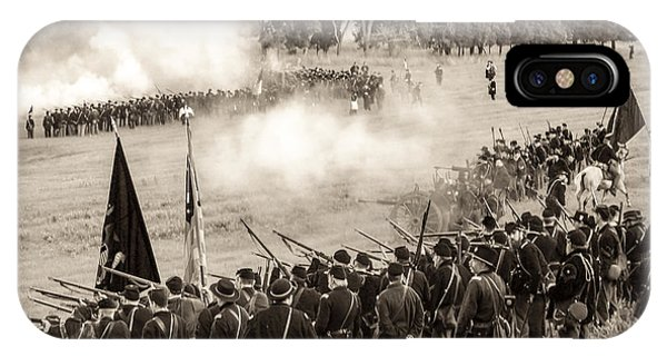 Gettysburg Union Artillery And Infantry 7496s IPhone Case