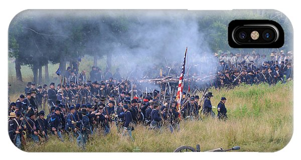 Gettysburg Union Artillery And Infantry 8456c IPhone Case