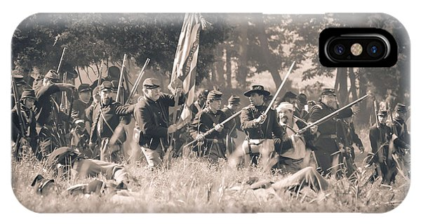 Gettysburg Union Infantry 9348s IPhone Case
